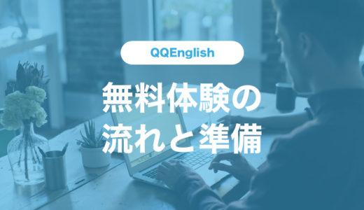 QQEnglishの無料体験レッスン受講までの流れ、準備する物